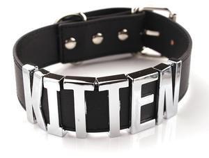 """""""Kitten"""" Leather Collar"""