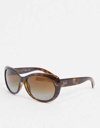 Ray-Ban oversized round sunglasses in brown tort | ASOS