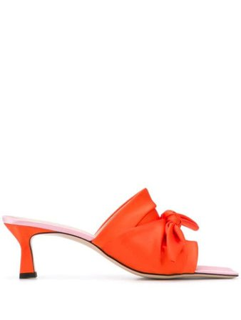 Wandler Bow Detail Mules - Farfetch