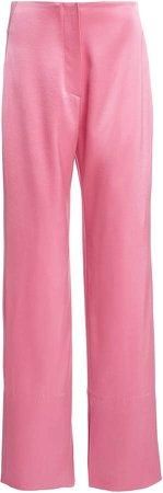 Nanushka Tabbie Straight-Leg Satin Pants