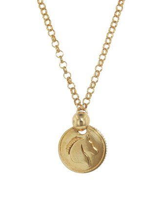 Foundrae Jewelry - Horse Coin On Belcher Necklace - Yellow Gold - Ylang 23