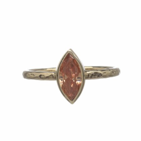 Derowen (Yellow Gold, Champagne Zircon) - Bloody Mary Metal