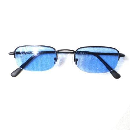 Funky vintage 90s/Y2k blue tinted rectangular sunglasses