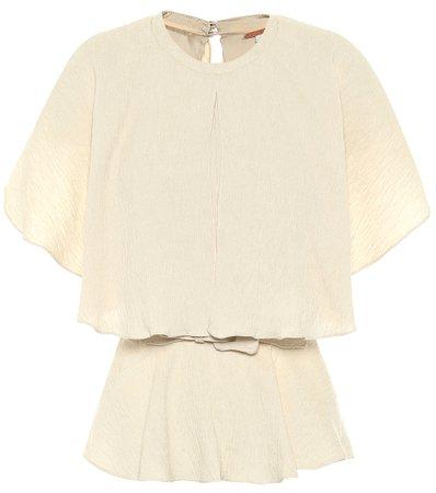 Johanna Ortiz, Amor Es belted crêpe blouse