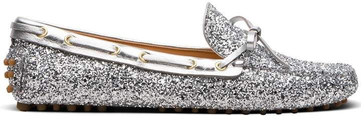 Metallic Driving Loafers