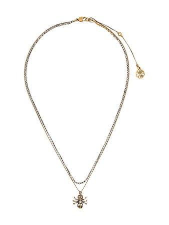 Alexander McQueen Spider Pendant Necklace - Farfetch