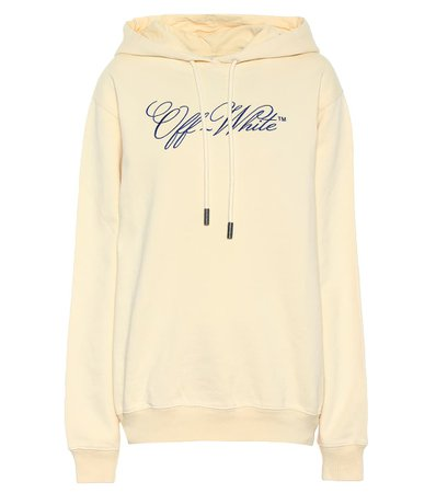 Off-White - Logo cotton hoodie | Mytheresa