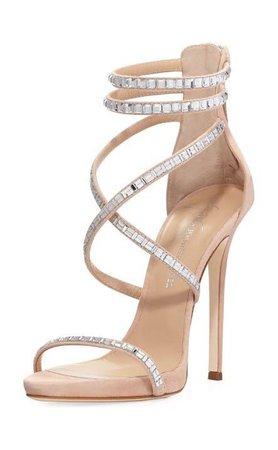 nude heels sparkle