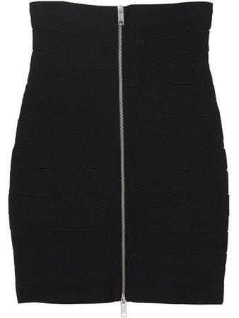Burberry Stretch Zip-Front Bandage Skirt 4559887 Black | Farfetch