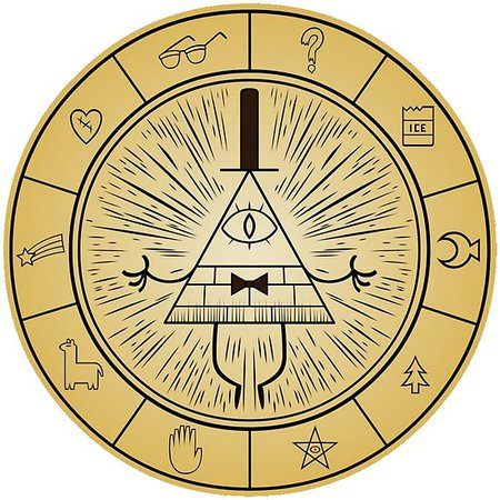 """Gravity Falls Bill Cipher Wheel"" Posters by Yseey 