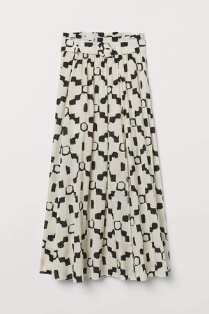 Belted Skirt - Beige