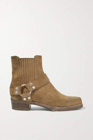 Calvary Suede Ankle Boots - Tan