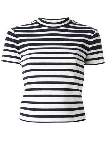 T BY ALEXANDER WANG Striped Crop T-Shirt