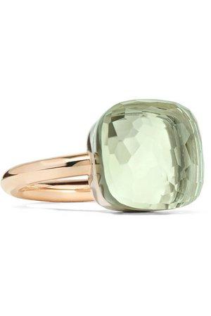 Pomellato | Nudo Maxi 18-karat rose gold prasiolite ring | NET-A-PORTER.COM