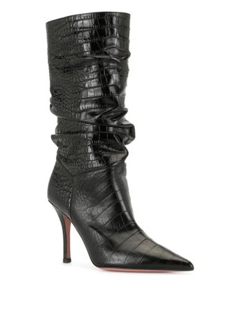 Amina Muaddi Embossed multi-pattern Boots - Farfetch
