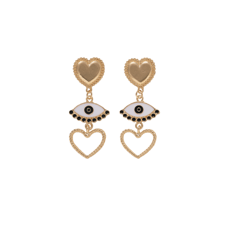 JESSICABUURMAN – SOLIX Eyes And Heart Earrings - Pair