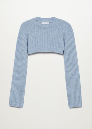 Knitted cropped sweater - Women | Mango USA