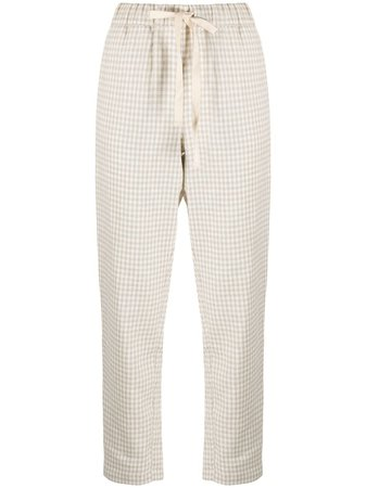 Semicouture Gingham Straight Trousers - Farfetch