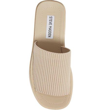 Steve Madden Balanced Platform Wedge Slide Sandal (Women) | Nordstrom