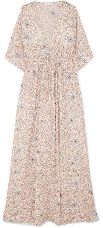 Liliane Floral-print Cotton-voile Maxi Dress - Blush