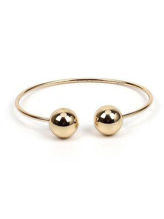 Round Ball Design Cuff Bracelet