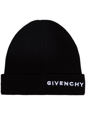 Givenchy Embroidered Logo Beanie Hat | Farfetch.com