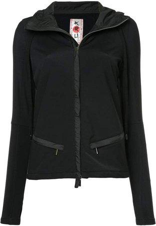 Kru zebra stripe softshell hoodie