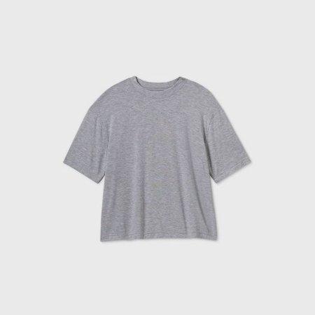 Women's Short Sleeve Round Neck T-Shirt - Prologue™ Gray : Target