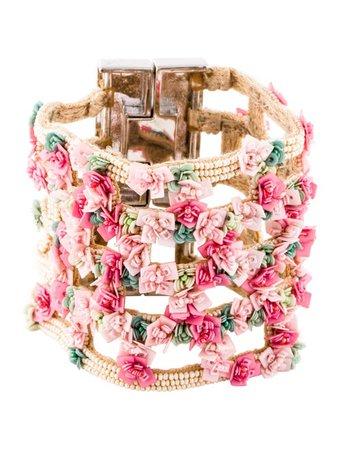 Mignonne Gavigan Flower Bracelet - Bracelets - WMGNN20187 | The RealReal