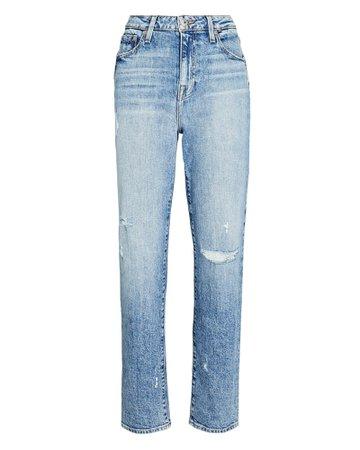 Jonathan Simkhai Trevor Cropped Straight-Leg Jeans | INTERMIX®