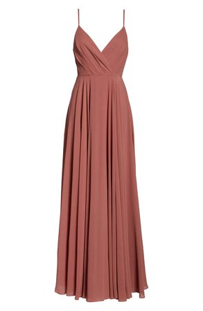 Lulus Surplice Chiffon Gown | Nordstrom