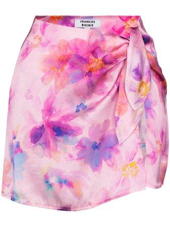 Shop pink Frankies Bikinis Dani floral-print mini skirt with Afterpay - Farfetch Australia