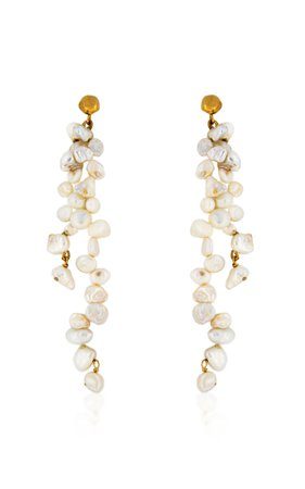 Holly Ryan Meteor Pearl Double Drop Earrings