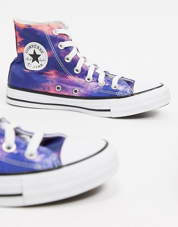 Converse Chuck Taylor All Star Hi ombre sneakers in sunblush | ASOS