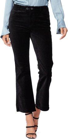 Claudine High Rise Stretch Velvet Flare Jeans