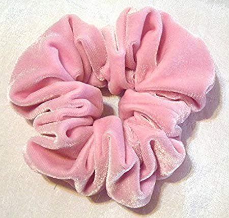 Amazon.com : Pink Velvet Hair Scrunchy-Regular - Pink velvet Hair Scrunchies- Hair Scrunchies for Women- Christmas gift- Made in the USA - 6 Month Warranty : Beauty