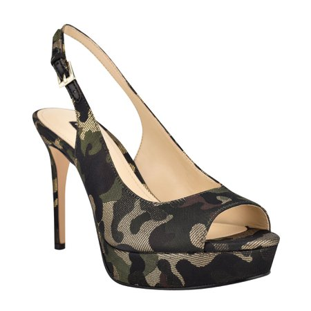Elle Slingback Platform Sandals - Nine West