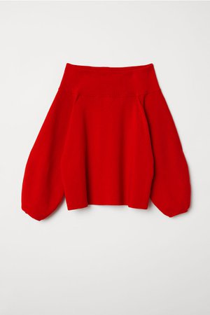 Off-the-shoulder Sweater - Bright red - Ladies   H&M US