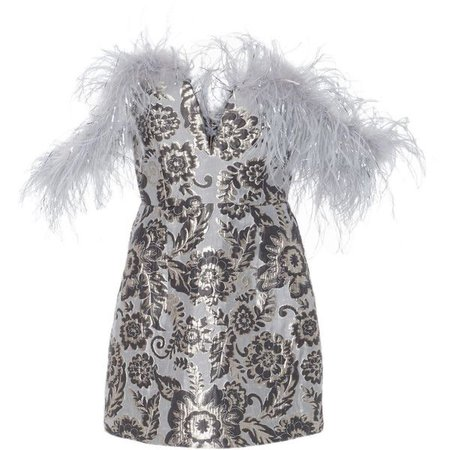 Alice McCall Pop Goes The Party Bustier Feather Dress ($490)