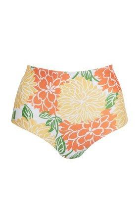 Marina Mariposa Floral Print Bikini Bottom By Faithfull The Brand   Moda Operandi