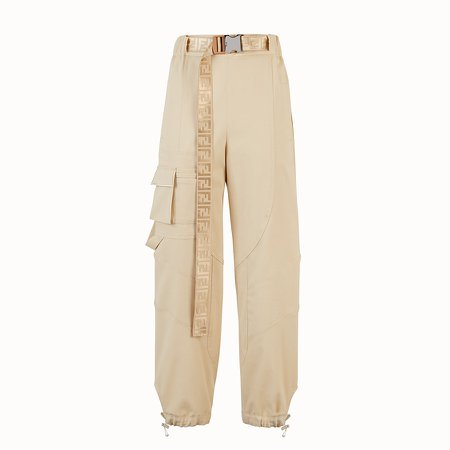 Beige cotton pants - PANTS   Fendi