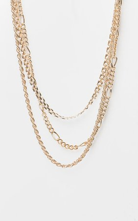 Gold Multi Chain Layered Necklace | PrettyLittleThing