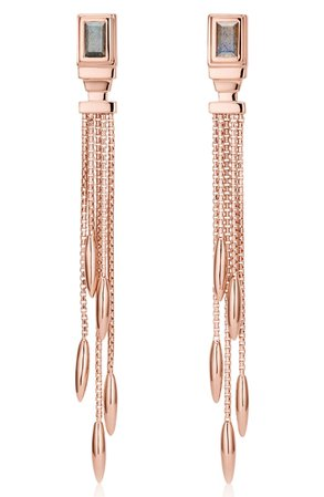 Monica Vinader Baja Deco Fringe Earrings | Nordstrom