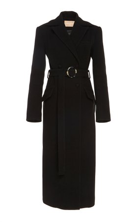 MATÉRIEL Belted Wool-Blend Coat
