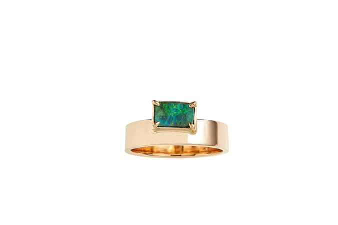 WWAKE One-Of-A-Kind Gold And Opal Ring