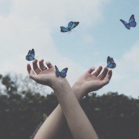 blue wonderland aesthetic