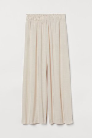 Crop Pull-on Pants - Light beige - Ladies | H&M US