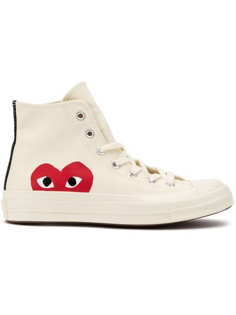 Comme Des Garçons Play x Converse Side Logo Sneakers - Farfetch