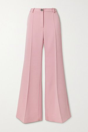 Twill Flared Pants - Baby pink