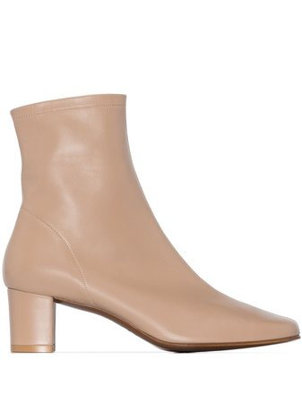 BY FAR leather 60mm ankle boots - FARFETCH